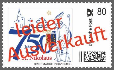 Nikolaus Briefmarke Individuell - 750 Jahre St. Nikolaus