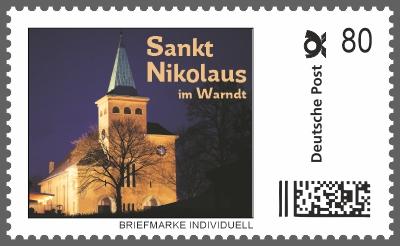 Nikolaus Briefmarke Individuell - Dorfkirche St. Nikolaus