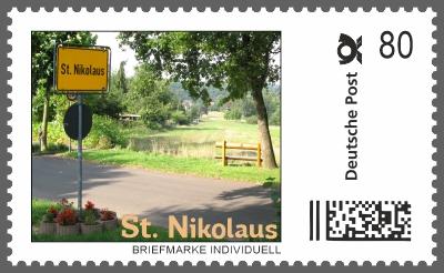 Nikolaus Briefmarke Individuell - Ortseingang