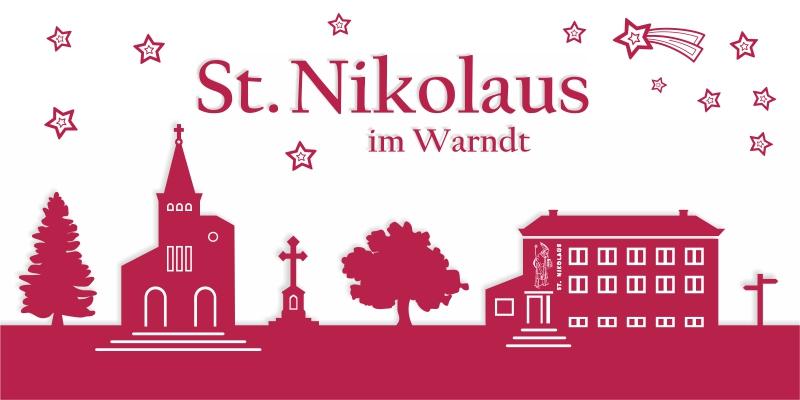 Nikolaus-Klappkarte - 750 Jahre St. Nikolaus
