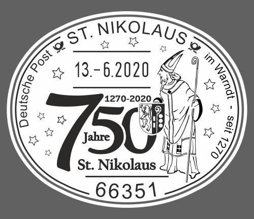 Nikolaus Sonderstempel - 750 Jahre St. Nikolaus