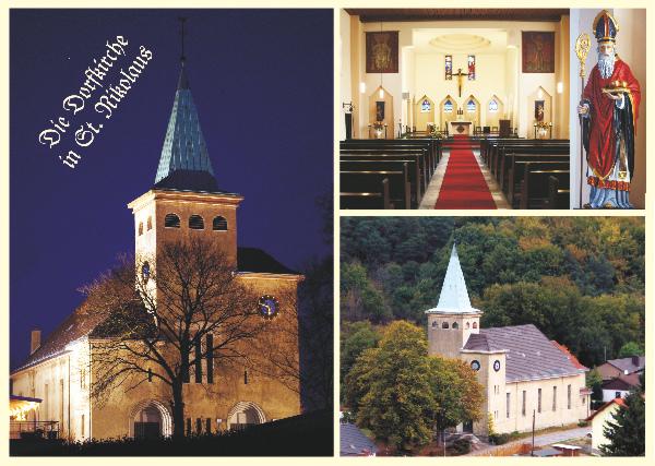 Nikolaus-Postkarte - Kirche St. Nikolaus