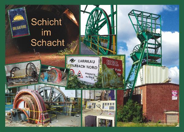 Nikolaus-Postkarte - Schicht im Schacht