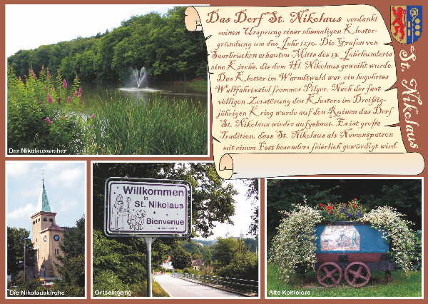 Nikolaus-Postkarte - Ortsgeschichte