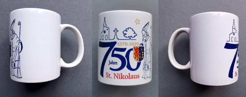 Nikolaus-Tasse - 750 Jahre St. Nikolaus