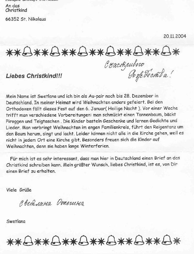 Brief Für Nikolaus : Eine auswahl von kinderbriefen an den nikolaus aus st